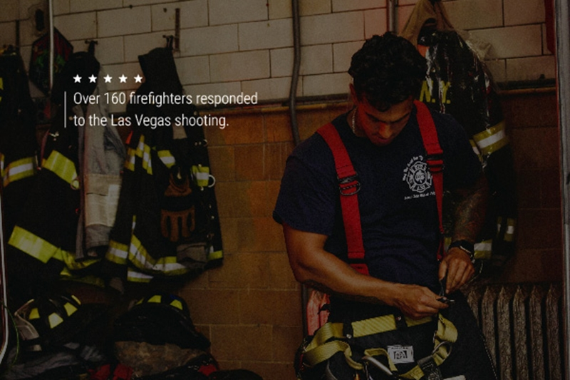 Over 160 firefighters responded to the Las Vegas shooting.